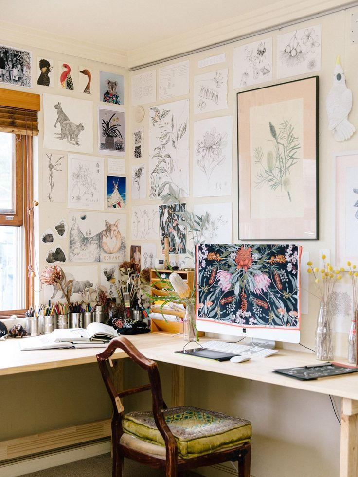 T l travail am nager un coin bureau domicile inspiration d co par c t maison atelier - Deco bureau maison ...