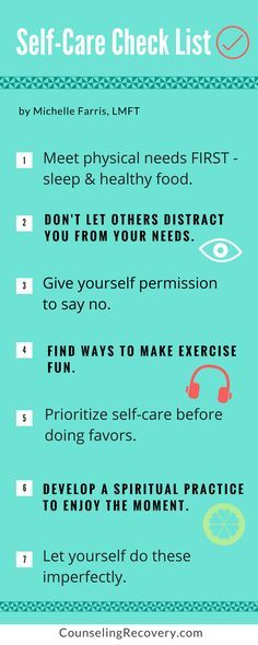 Tips for self care.