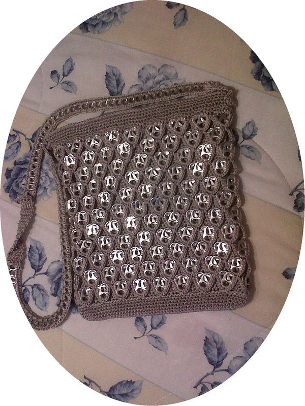 Crochet soda top bag..........