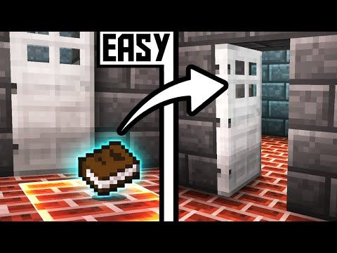 Hidden ITEM PASSWORD Door Opener! - Minecraft Tutorial - YouTube