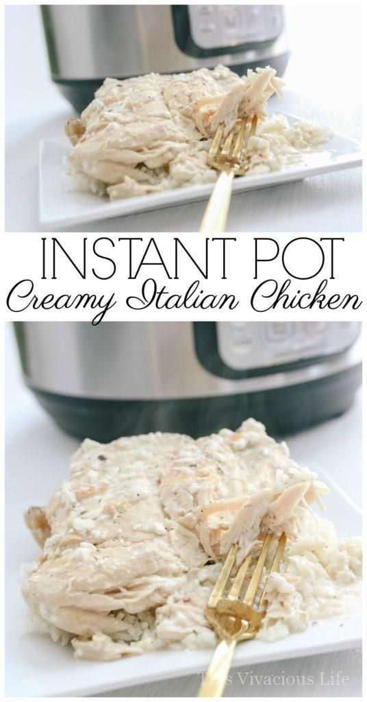 This Instant Pot creamy Italian chicken is bursting with delicious flavors that the whole family will love! This one pot meal is so simple to make and tastes great. My husband said it's his favorite meal.   gluten free chicken recipes   gluten free instant pot recipes   instant pot chicken recipes   easy chicken recipes   healthy chicken recipes   gluten free dinner recipes   pressure cooker dinner recipes    This Vivacious Life #glutenfreedinner #instantpotdinner #pressurecookerchicken