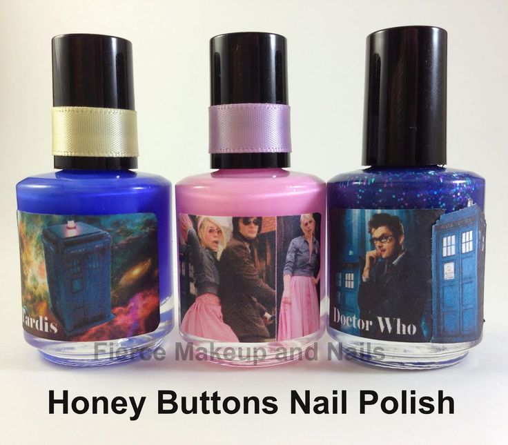 Nail Buttons: Fierce Makeup And Nails: Honey Buttons Nail Polish: Doctor