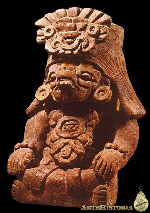 Cocijo, dios de la lluvia, sentado. Cultura Zapoteca (Monte Albán, México) Autor: Fecha: 400-600 Museo: Museo Nacional de Antropología de México