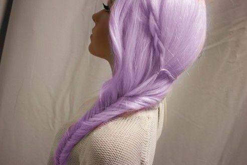 .: Fish Tail, Purple Hair, Hair Colors, Long Hair, Fishtail Braids, Hair Style, Pastel Hair, Lavender Hair, Lilacs Hair