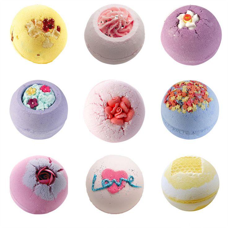 Best  pcs non Bubble Bomb Cosmet Britaing Natural Bath Bomb Ball Essential Oil Handmade SPA Bath