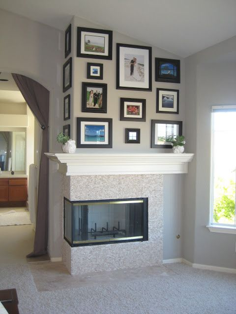 17 best images about fireplace on pinterest mantles Corner fireplace makeover ideas