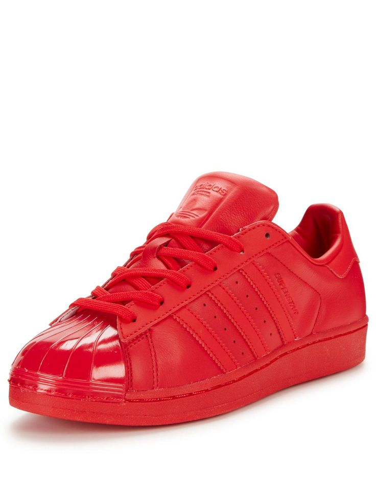 adidas Originals Superstar Glossy Toe W Women Red colorful and fashion forward