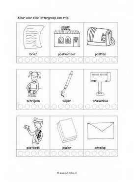 Dit taal werkblad en nog veel meer in het thema postbode kun je downloaden op de website van Juf Milou.