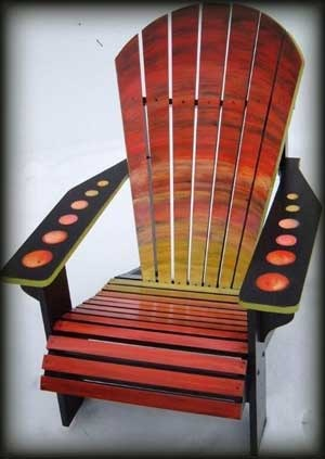 This Adirondack chair invites you to a retreat at the lake. Custom painting ... timepastfurniture.com