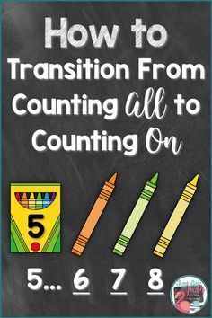 Discover math ideas and freebies in this post about helping your kindergarten, first, and second grade students move from counting all to counting on/ up when adding! #teachingchildrenmathematics