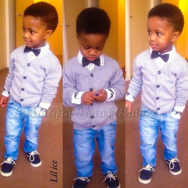 Baby you got swag Beautiful black kids. Cute little girl / boys fashion  #kids fashion