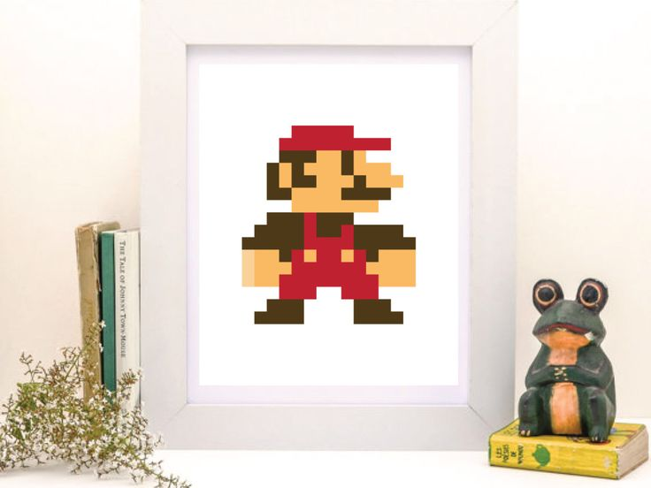 Mario, Pixel Mario, Pixel Art, Pixel Print, Room Wall Art, Old Games Gift, Gift by PrintablePosterMaker on Etsy https://www.etsy.com/listing/449381938/mario-pixel-mario-pixel-art-pixel-print