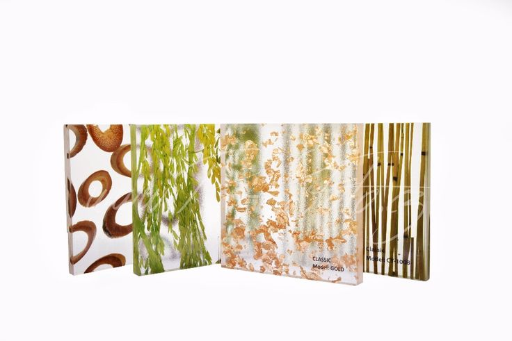Dekorakryl - resin panel with organic inlays of plants, flowers, leaves, grass, bamboo for home decoration  #resin #panel #acrylic #wall #decoration #translucent #resin #home #design #ideas