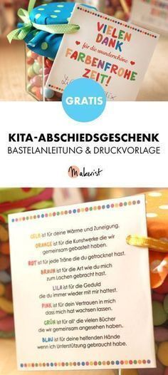 Free guide: farewell gift for educators – crafting instructions via Makerist.de