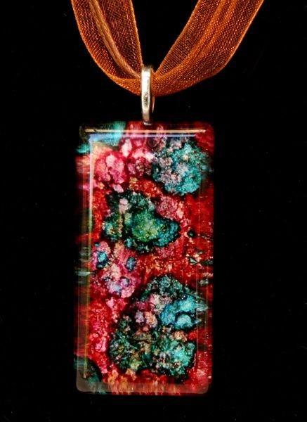 alcohol ink on glass 12