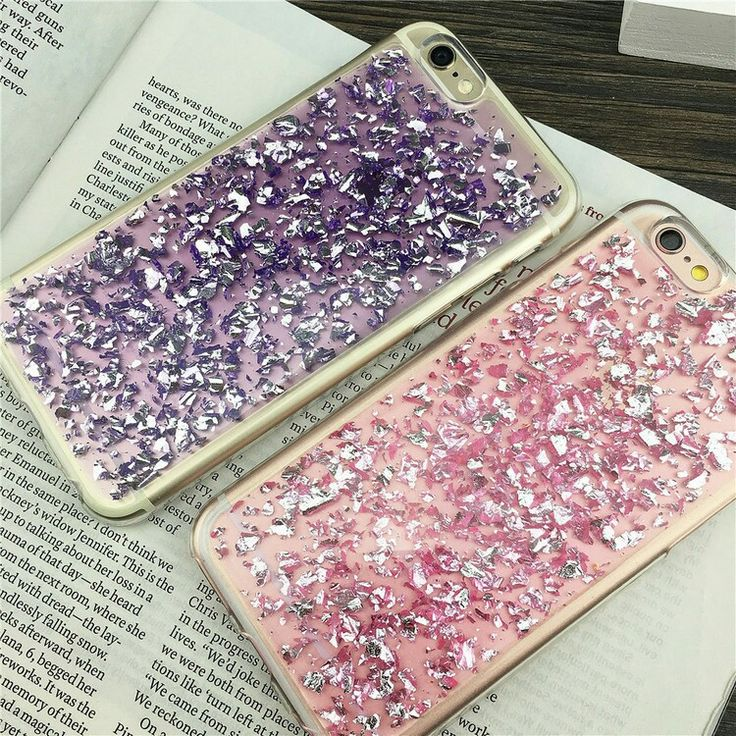 Foil Metal Flake iPhone 7 Cases in Pink / Purple / Blue / Silver / Gold / Rose Gold