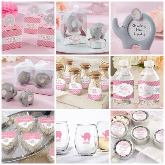 38 best pink elephant baby shower images on pinterest elephant little peanut baby shower party favors negle