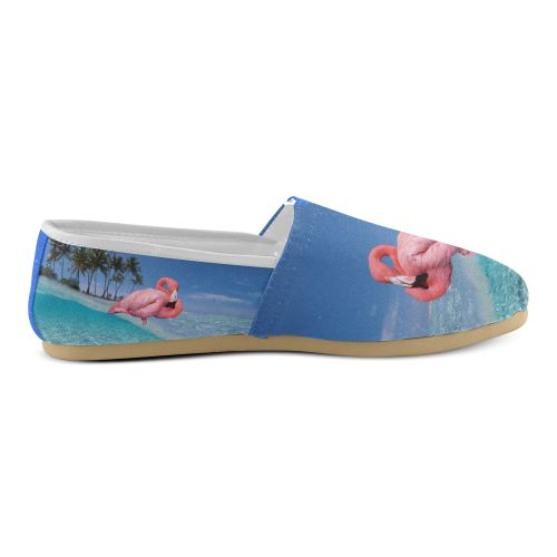 Flamingo and Palms Women's Casual Shoes (Model 004)