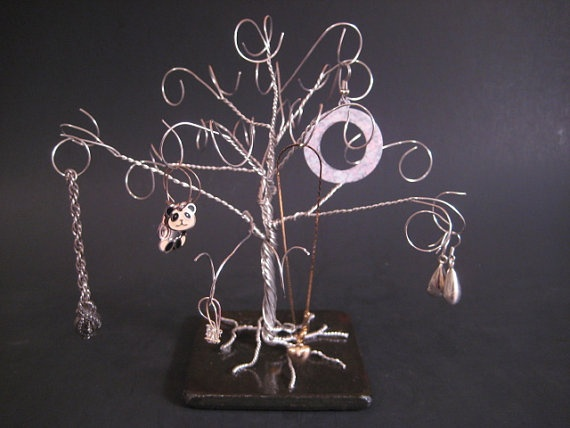 Sculpted Jewelry Tree Stand by FeathersOfTheForest on Etsy, $32.00