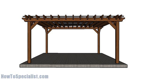 16x16 Pergola Plans - Step by Step - 16x16 Pergola Plans - Step By Step Pergolas Pergola Plans