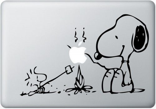 Snoopy Camping Vinyl Decal Macbook Laptop Stickers Auto Handmade Vinyl