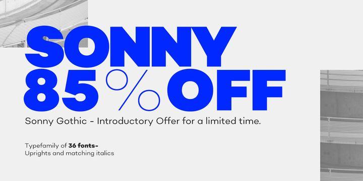 Sonny Gothic - Webfont & Desktop font « MyFonts