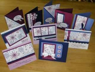 one sheet wonders...make 10 different cards quickly with one sheet of designer paper