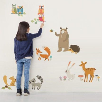 Beau Forest Animals Wall Stickers   Wall Sticker, Mural, U0026 Decal Designs At Wall  Sticker Outlet