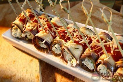 Receita de Canelone de berinjela especial em receitas de legumes e verduras, veja essa e outras receitas aqui!