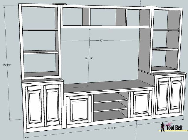 Plans for a great looking entertainment center