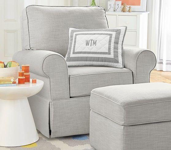 Comfort Upholstered Glider & Ottoman