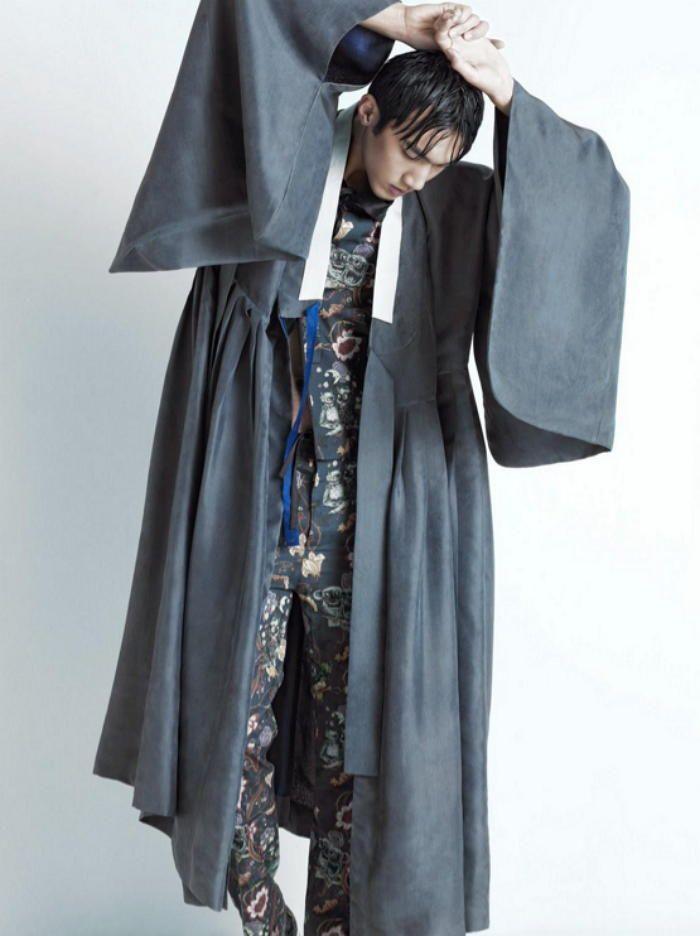 Hanbok motive. Men's Hanbok. 두루마기/도포