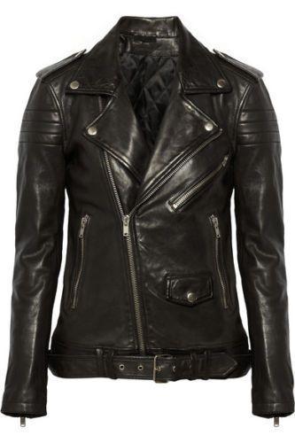 Women's Leather Jacket Black Slim Fit Biker Motorcycle Lambskin Jacket S M L 112 #Ryanlifestyle #Motorcycle #PerfectforMotorcycleBikerandWinter