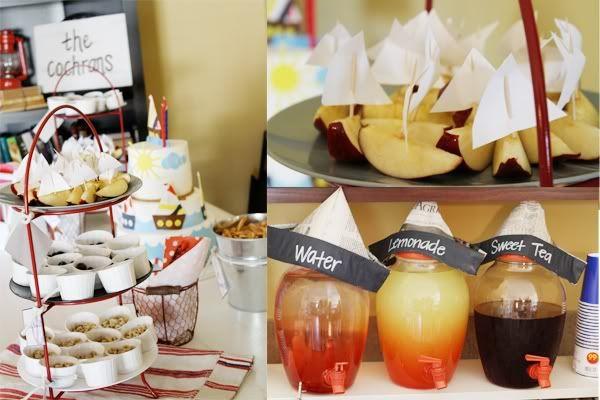 I love this apple/sailboat idea
