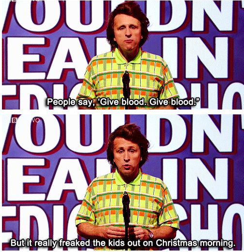 "When Milton Jones brought the Christmas cheer. | 31 Times ""Mock The Week"" Was Really Fucking Funny"