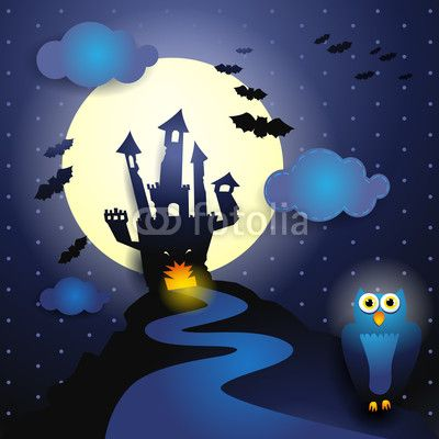 Halloween background, vector illustration