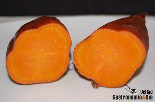 Sweet potato. Boniato /batata, a  temperatura de cocción baja  resulta más dulce.
