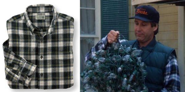 L.L.Bean Scotch Plaid Flannel Shirt   Clark Griswold   Christmas Vacation
