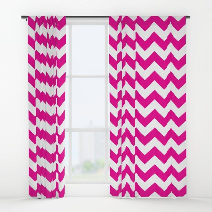 Follow The Link To Check Out These Window Curtains Society6 This Is An Affiliate Link Fyi Thanks For The Support Design Societ Curtains Pink Chevron Pink