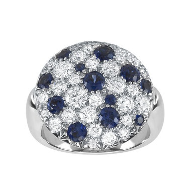 Splash Collection, Diamond Pavé and Blue Sapphire Ring #BirksGlamCannes