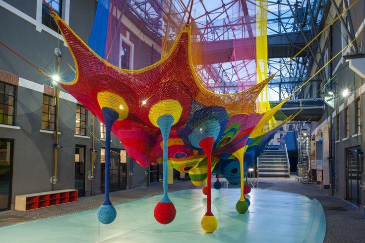 Toshiko Horiuchi MacAdam, Harmonic Motion / Rete dei draghi, Museo d'Arte Contemporanea Roma, 2013   Playscapes