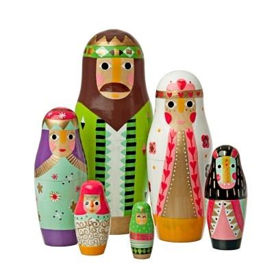 pesebre estilo muñecas rusas