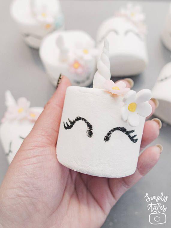 Unicorn Marshmallow pops Grand opening Tea party Shabby