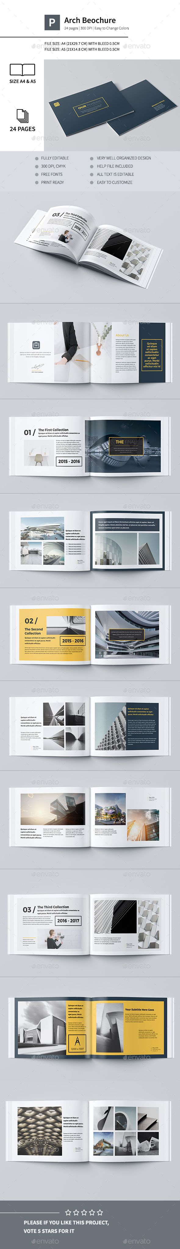 Our Portfolio Architecture 24 Pages A4 & A5 — InDesign INDD #blue #a5 • Available here → https://graphicriver.net/item/our-portfolio-architecture-24-pages-a4-a5/16254091?ref=pxcr