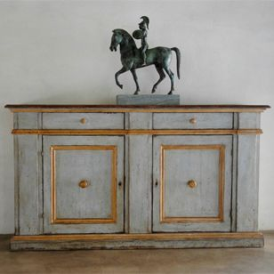 Superb quality and colour to this stunning pair of Italian antique cabinets from Garnier Brigitte and Alain available on the Decorative Collective