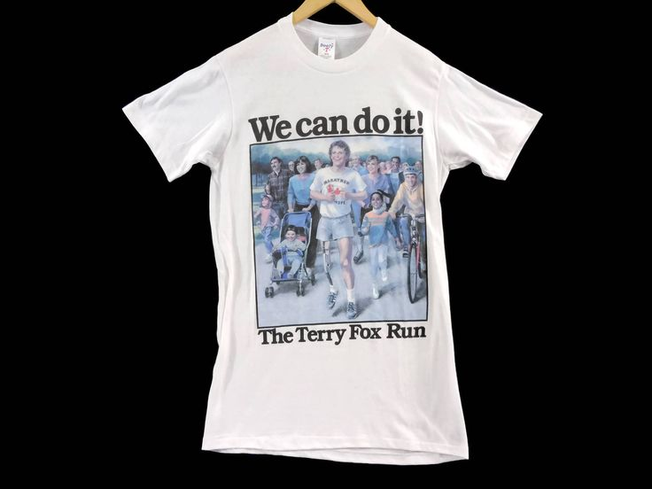 VTG 80s Terry Fox Run T-Shirt - Medium - Cancer Reasearch -Canadian Hero - Deadstock - Lifestyles - Vintage Tee - Vintage Clothing - by BLACKMAGIKA on Etsy