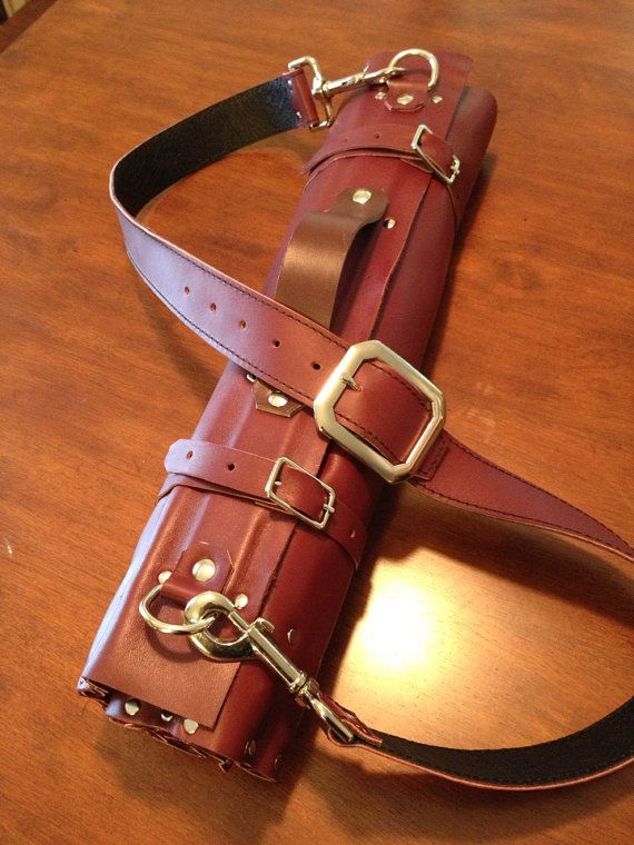 Leather knife roll by design2597 on Etsy, $135.00