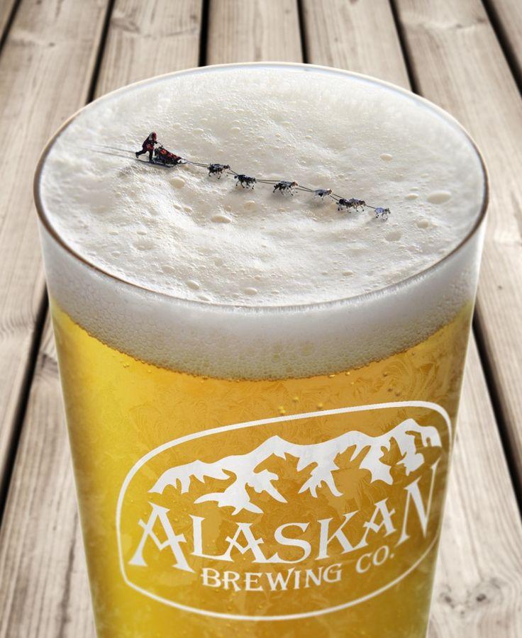 この表現ができるのはうちだけ!素晴らしくオシャレなアラスカビールのプリント広告 | AdGang