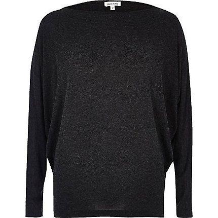 Dark grey batwing top £12.00