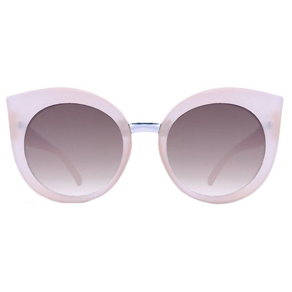 Quay Australia Quay Dream Of Me Sunglasses Beige ($36) ❤ liked on Polyvore featuring accessories, eyewear, sunglasses, beige, quay eyewear and quay sunglasses
